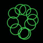 Water-tight Silicone O-Ring for flashlights (24 x 1.5mm), green glow in the dark