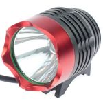 LED Bike Flashlight BL-T6 (Cree XM-L, 1200 lumen, 3 modes, 4x18650), red