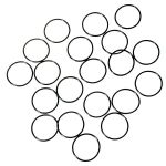 Water-tight Silicon O-ring for flashlights (27 x 1.5mm) black