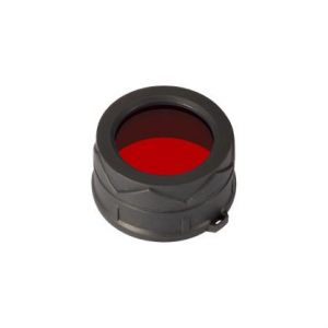 Diffuser filter for flashlights Nitecore NFR40 (40mm), red