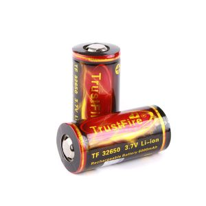 Rechargeable battery Litium Li-Ion 32650 TrustFire 3.7V (6000mAh), protected