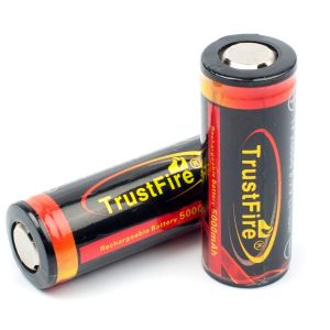 TrustFire Protected 26650 3.7V Rechargeable Lithium Li-Ion Batteries (5000mAh)to buy, at official, the representative, TrustFire, the price, responses, the description, a photo, characteristics, video.