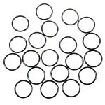 Water-tight Silicon O-ring for flashlights (20 x 1.5mm) black