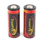 Rechargeable battery Litium Li-Ion 26650 TrustFire 3.7V (5000mAh), protected